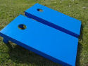 Blue Cornhole Board